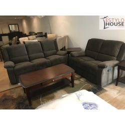 Reclinables,sala Reclinable Cafe Sofa Y Love Seat Reclinable