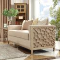 Juego De Sala Elegante Contemporaneo (sofa Loveseat Y Silla)