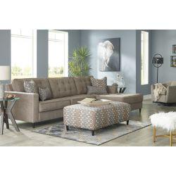 Sofá seccional con otoman izquierdo, sofá casual moderno