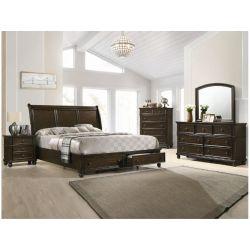 Recamara Mallorca, elegante cama queen size de madera