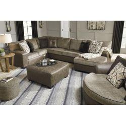 Sofa y love Seat moderno cuero y tela
