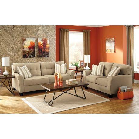 Sofa más Love Seat color blanco