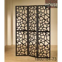 Biombo 3 paneles en madera