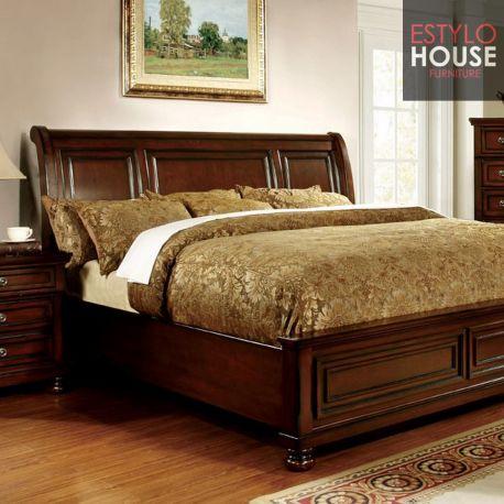 Recamara con respaldo de madera cama con cajones monterrey for Recamaras individuales de madera